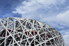 Bird`s nest Olympic Stadium at day, Beijing, China stock images