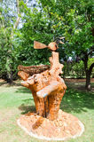 Bird's Nest Sculpture: Amaze'n Margaret River. MARGARET RIVER,WA,AUSTRALIA-JANUARY 16,2016: Bird's nest sculpture at Amaze'n Margaret River's botanical gardens stock photos