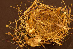 Bird's Nest--Spun Gold Royalty Free Stock Photo