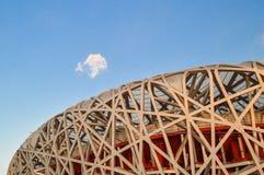 Bird's Nest stadium in beijing. Bird's Nest stadium was built in 2008 Olympic Games in Beijing, China made Royalty Free Stock Images