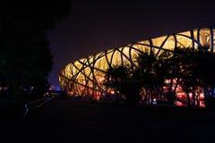 Bird's nest stadium in Beijing Olympic Village Royalty Free Stock Photos
