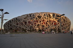Bird's Nest stadium. Was built in 2008 Olympic Games in Beijing, China made Royalty Free Stock Photography
