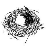 Bird`s nest vector eps illustration by crafteroks royalty free illustration