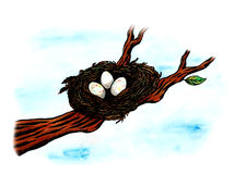 Bird's Nest (Zen Pictures, 2011) Royalty Free Stock Image