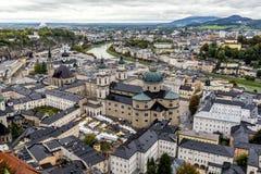 Bird& x27; s oka widok Salzburg Fotografia Royalty Free