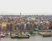 Bird's view on Amsterdam Stock Images