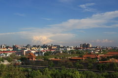 Bird's view of Beijing from Jingshan Park Stock Photography