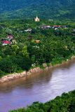 Bird's view of Nam Khan river II Royalty Free Stock Image