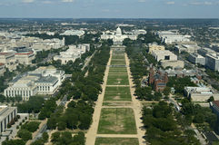 Bird's View of National Mall Stock Photos