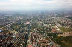 Bird`s view of shenzhen city Stock Photos
