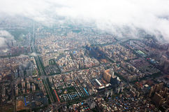 Bird`s view of shenzhen city Royalty Free Stock Photography