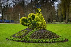 Sculpture from flowers in Bad Krozingen Schwarzwald germany royalty free stock image