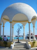 Bird. Sculpture. Shape of a bird. The white dome. Rhodes Stock Image
