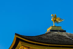 Bird sculpture on the top of the roof of Ginkaku-ji Temple in Ky Royalty Free Stock Photography