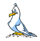 Bird Seagull cartoon illustration Stock Photography