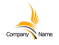 Bird Seagull Logo. An illustration of a business company logo representing an abstract seagull Royalty Free Stock Photo