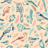 Bird seamless pattern stock illustration
