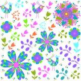 Bird seamless pattern vector Stock Image
