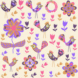 Bird seamless pattern vector Stock Photo