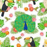 Bird Seamless Pattern Stock Photos