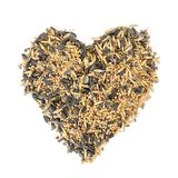 Bird seed heart Royalty Free Stock Images
