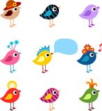 Bird set Stock Photography