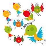 Bird set. Set of birds  illustration is multiple colors Stock Photo