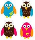 Bird Set. Cute and colorful bird set Stock Photo