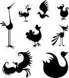 Bird set Stock Images