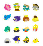 Bird Set Character Stock Photos