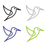 Bird. A set of bird  icons Stock Image