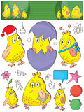 Bird Sets Fun Elements_eps Royalty Free Stock Image