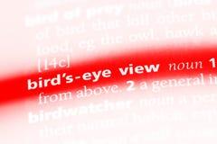 bird& x27; seyeview Zdjęcia Stock