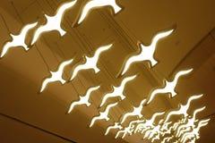 Flying Bird shape led lighting chandelier lamp. Bird shape led candle chandelier lighting on ceiling stock image