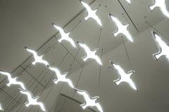 Flying Bird shape led lighting chandelier lamp. Bird shape led candle chandelier lighting on ceiling royalty free stock photos