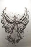 Bird shape made of ash Royalty Free Stock Photography