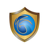 Bird shield logo. Security logo design concept template Royalty Free Stock Image