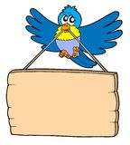 Bird with sign. Vector illustration Royalty Free Stock Image