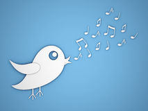 Bird singing Stock Images