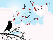 Bird singing Royalty Free Stock Photo