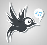 Bird sings Stock Image