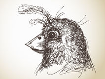 Bird sketch Stock Image