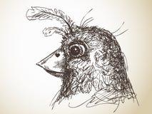 Bird sketch Stock Image