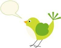 Bird with a speech balloon Royalty Free Stock Photos