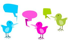 Bird with speech bubble Royalty Free Stock Photography