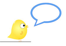 Bird with speech bubble Stock Photos