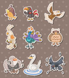 Bird stickers stock illustration