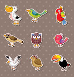 Bird stickers Royalty Free Stock Photo