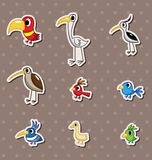 Bird stickers Stock Image