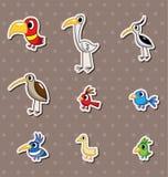 Bird stickers Stock Image